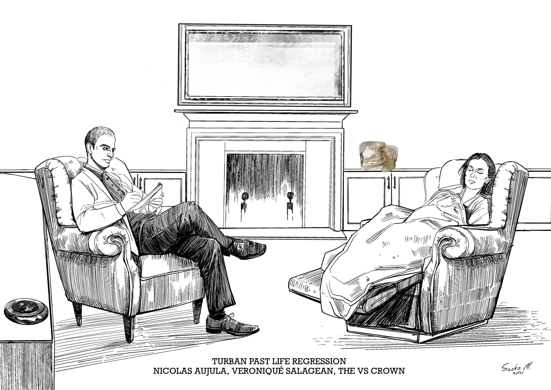 Past Life Regression - Nicolas Aujula, Veronique Salagean, The VS Crown Turban